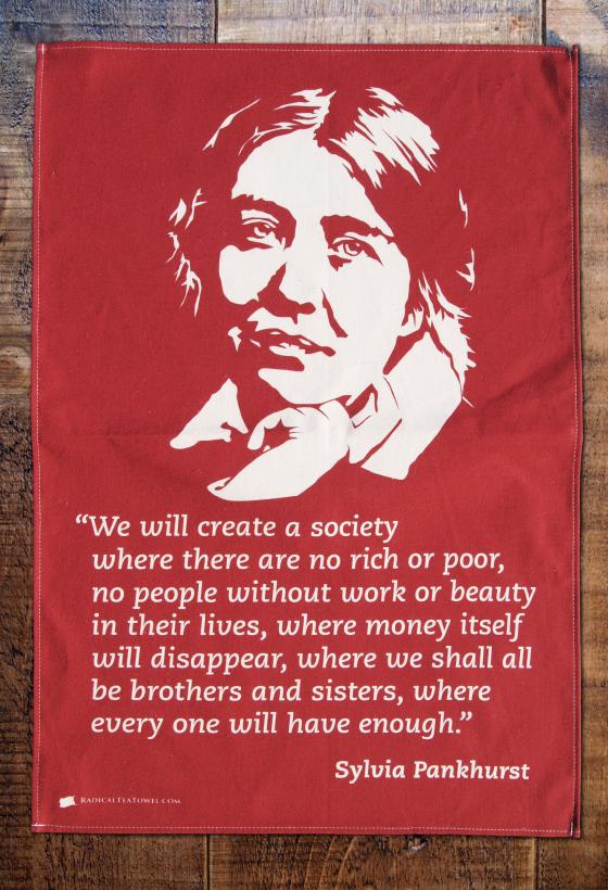 Sylvia Pankhurst Tea Towel